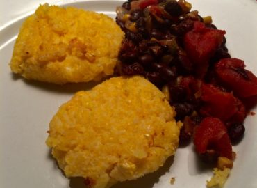 Corn Cakes with Black Beans