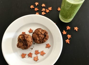 Apple Muffins and Kale Smoothie