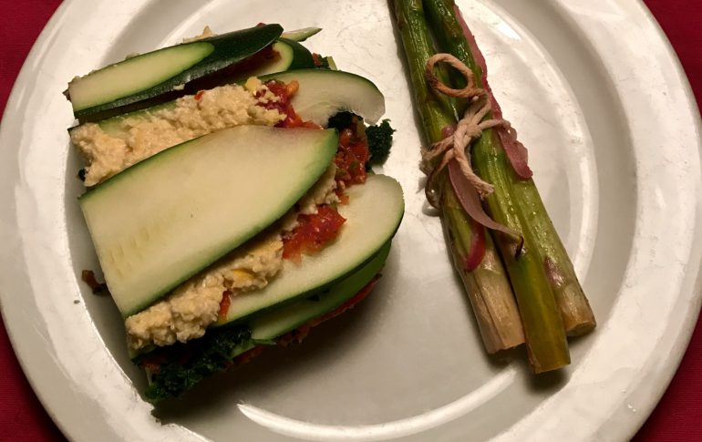 Raw Lasagna and Asparagus