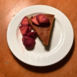 Light Strawberry Almond Cake