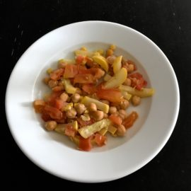 Chickpea Succotash with Lemongrass