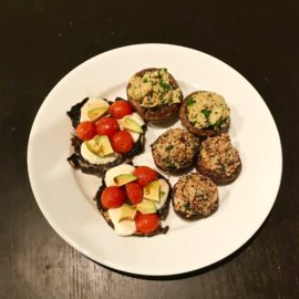 Stuffed Mushrooms Three Ways